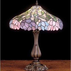 Meyda Tiffany - Meyda Tiffany 52135 Stained Glass / Tiffany Table Lamp Classic Wisteria - Copperfoil CollectionTable Lamp1 Medium base bulb, 100w (max)