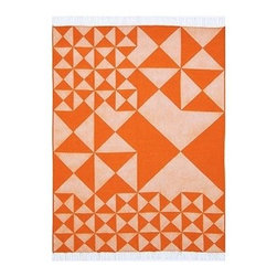 VerPan - Mirror Throw Plaid/Tagesdecke - orange