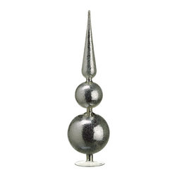 Silk Plants Direct - Silk Plants Direct Beaded Glass Ball and Finial Table Top (Pack of 2) - Pack of 2. Silk Plants Direct specializes in manufacturing, design and supply of the most life-like, premium quality artificial plants, trees, flowers, arrangements, topiaries and containers for home, office and commercial use. Our Beaded Glass Ball and Finial Table Top includes the following: