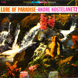 "Adonis Collection - Adonis Collection | Framed Album, Hawaii - Andre Kostelanetz, ""Lure of Paradise,"" framed album artwork. Released in 1959 by Columbia Records."