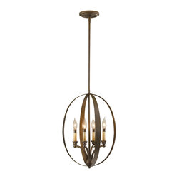 Murray Feiss - Murray Feiss F2539/4CB Kinsey 4 Bulb Corinthian Bronze Chandelier - Murray Feiss F2539/4CB Kinsey 4 Bulb Corinthian Bronze Chandelier