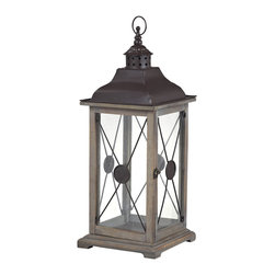 Sterling Industries - Edlington Large Wooden Lantern - Edlington-Large Wooden Lantern by Sterling Industries