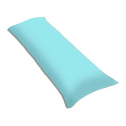 """SheetWorld - SheetWorld Butter Soft 100% Cotton Jersey Knit Body Pillow Case - Solid Aqua - SheetWorld makes the softest and most plush 100% cotton jersey knit body pillow cases on the market. The cotton t-shirt like jersey knit _ will greatly enhance the comfort and feel of the pillow, helping to give you a restful night sleep. These pillow cases are designed with a zipper along side the length of the pillow to easily put on and remove. There are over28 beautiful solid colors available in the same high quality fabric to complement almost any decor. Measures 20"""" x 54"""". Machine Washable and tumble dry medium. Proudly made in the USA!"""
