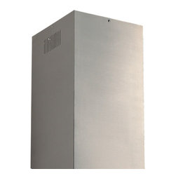 """35"""" Flue Extension for 36"""" Brisote Series Stainless Steel Island Range Hood - Add this flue extension to your island range hood if you have a tall ceiling and more of the flue is visible. Made to fit the 36"""" Brisote Series Stainless Steel Island Range Hood."""