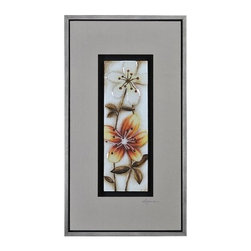 """Ren Wil - Ren Wil W6101 Fall Flowers I 43"""" x 25"""" Wall Decor by Dominic Lecavalier - Specifications:"""