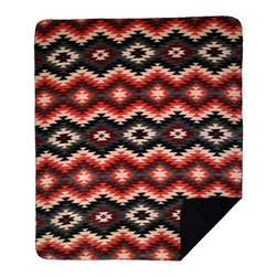 Throw Blanket Denali Starburst Orange/Black - Denali micro plush throws are considered the Cadillac of throws due to their rich colors and soft feel. These throws are softer and warmer than fleece.