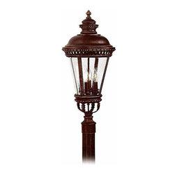 Feiss - Feiss Castle 3 Light Post Lantern in Grecian Bronze OL1907GBZ - FEISS Castle 3 Light Post Lantern in Grecian Bronze OL1907GBZ