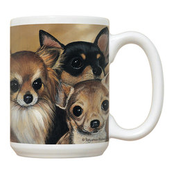 200-Chihuahua Mug - 15 oz. Ceramic Mug. Dishwasher and microwave safe It has a large handle that's easy to hold.  Makes a great gift!