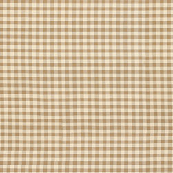 """Ballard Designs - Small Check Toffee Fabric By the Yard - Content: 100% cotton. Repeat: Non-railroaded fabric, 3/4"""" repeat. Care: Machine wash. Width: 54"""" wide. Inspired by vintage fabric with cream & toffee checks woven in crisp 100% cotton. . Repeat: Non-railroaded fabric, 3/4"""" repeat .  . Width: 54"""" wide . Because fabrics are available in whole-yard increments only, please round your yardage up to the next whole number if your project calls for fractions of a yard. To order fabric for Ballard Customer's-Own-Material (COM) items, please refer to the order instructions provided for each product.Ballard offers free fabric swatches: $5.95 Shipping and Processing, ten swatch maximum. Sorry, cut fabric is non-returnable."""