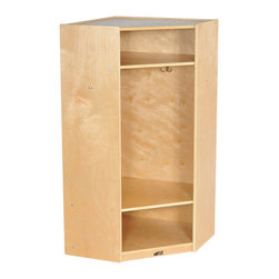 Ecr4kids - Ecr4Kids Birch 2-Section Corner Coat Locker 4 Coat Hooks And Cubbies/ Natural - A 2-section coat locker that accommodates up to 4 children. Perfect for the corner to extend any of our coat lockers Each unit features 4 coat hooks, and cubbies above and below for storing shoes, boots, hats, lunchboxes, backpacks and more. Style Notes:  Natural. Colors may vary and are subject to change without notice.