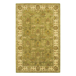 """Chandra - Traditional Adonia 7'9""""x10'6"""" Rectangle Green-Green Area Rug - The Adonia area rug Collection offers an affordable assortment of Traditional stylings. Adonia features a blend of natural Green-Green color. Hand Tufted of New Zealand Wool the Adonia Collection is an intriguing compliment to any decor."""