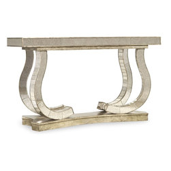 """Hooker Furniture - Hooker Furniture Melange Show Stopper Mirrored Console - Looking for a little glamour in your life? Look no further than the Show Stopper Mirrored Console. Hardwood Solids and Antique Mirror. Dimensions: 58""""W x 20""""D x 34""""H."""