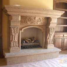 Fireplaces by Visionmakers Custom Stone & Iron Doors