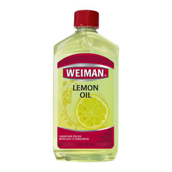 Weiman - Appliance Furniture Care Products - Lemon Oil With Sunscreen 16 Oz - 4 Pack - For centuries, pure lemon oil has been prized for the superb way it cleans, shines, and prevents fine wood finishes from drying out. Weiman Lemon Oil contains only the purest of oils. While providing a glorious sheen for all woods, Weiman Lemon Oil is especially recommended for teak, oak, Scandinavian and other low lustre finishes. And because sunlights ultraviolet rays can cause wood finishes to fade and crack, Weiman Lemon Oil is formulated with UVX-15 Sunscreen to guard your furniture against direct and indirect sunlight damage. Weiman is the only leading brand of Lemon Oil on the market with a sunscreen. Weiman Lemon Oil is Kosher certified and carries the Kosher symbol of the Orthodox Union. Weiman Lemon Oil contains only the purest of oils. . Provides a glorious sheen for all woods. Recommended for teak, oak, Scandinavian and other low lustre finishes. Kosher certified and carries the Kosher symbol of the Orthodox Union. Carton Weight: 1.1 Lbs. .