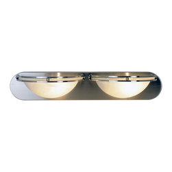 Premier - Two Light 24 inch Vanity Fixture - Brushed Nickel - Refresh your bathroom's appearance with the unique styling of this contemporary vanity fixture in a beautiful brushed nickel finish.