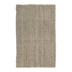 Kaleen - Natural Fiber Essential 8'x10' Rectangle Natural Area Rug - The Essential area rug Collection offers an affordable assortment of Natural Fiber stylings. Essential features a blend of natural Natural color. Handmade of 100% Jute the Essential Collection is an intriguing compliment to any decor.
