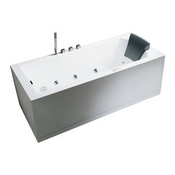 "Ariel - Ariel Platinum AM154 59"" R Whirlpool Bathtub 59x30x25 - Take a dip in this elegant whirlpool bathtub. Equipped with hydro-massage jets designed to target your pressure points for a relaxing experience."