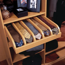 transFORM - Pull-out Tie Drawer - Pull-out tie shelf with dividers.