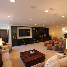 Contemporary Family Room by Jerry Bussanmas