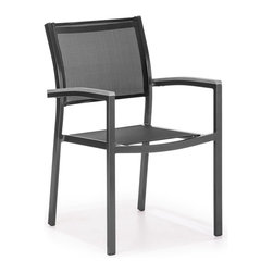Zuo Modern - Zuo Modern Muni Dining Chair in Black - Dining Chair in Black belongs to Muni Collection by Zuo Modern The Muni Bench has a sturdy epoxy coated aluminum frame and a slatted faux wood seat. Dining Chair (1)