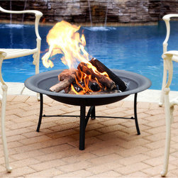 Jeco - 30-inch Black Fire Pit - Entertain family and friends all year long with our Fire Pit. This fire pit is perfect for a small cozy get-together on your patio or for adding to the atmosphere of a larger party or celebration.