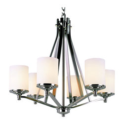Trans Globe 7926 BN Brushed Nickel Knob 6-Light Chandelier - Trans Globe 7926 BN Brushed Nickel Knob 6 Light Chandelier-Collection: Nickel Knob-Number of Bulbs: 6-Bulb Type: 60 Watt Medium-Bulbs Not Included-Glass/Shade: Frosted-Weight: 23-1 Year Limited Warranty