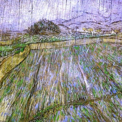 "Vincent Van Gogh Wheat Field in Rain - 18"" x 24"" Premium Archival Print - 18"" x 24"" Vincent Van Gogh Wheat Field in Rain premium archival print reproduced to meet museum quality standards. Our museum quality archival prints are produced using high-precision print technology for a more accurate reproduction printed on high quality, heavyweight matte presentation paper with fade-resistant, archival inks. Our progressive business model allows us to offer works of art to you at the best wholesale pricing, significantly less than art gallery prices, affordable to all. This line of artwork is produced with extra white border space (if you choose to have it framed, for your framer to work with to frame properly or utilize a larger mat and/or frame).  We present a comprehensive collection of exceptional art reproductions byVincent Van Gogh."