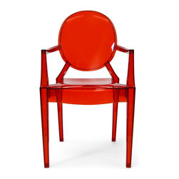 Inmod - Phantom Stacking Arm Chair (Set of 2), Translucent Red - Part of the Inmod Signature Collection