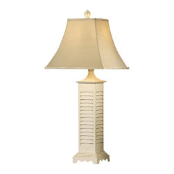 Crestview Collection - Crestview Collection CVARP287 White Shutter Table Lamp - Crestview Collection CVARP287 White Shutter Table Lamp