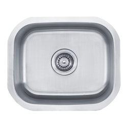 Kraus - Kraus 15 inch Undermount Single Bowl 18 Gauge Stainless Steel Kitchen Sink Combo - Add an elegant touch to your kitchen with a unique and versatile undermount sink from Kraus