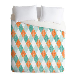 DENY Designs - Loni Harris Summer Breeze Duvet Cover - Turn your basic, boring down comforter into the super stylish focal point of your bedroom. Our Luxe Duvet is made from a heavy-weight luxurious woven polyester with a 50% cotton/50% polyester cream bottom. It also includes a hidden zipper with interior corner ties to secure your comforter. it's comfy, fade-resistant, and custom printed for each and every customer.