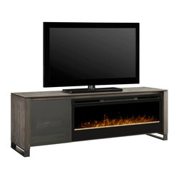 Dimplex - Dimplex Howden Media Console with Electric Fireplace Multicolor - GDS50G-1429CC - Shop for Fire Places Wood Stoves and Hardware from Hayneedle.com! A distinctive presence in any contemporary bedroom or TV room Dimplex Howden Media Console with Electric Fireplace features patented technology that creates an extraordinarily lifelike LED flame. The orange flame effect is enhanced by a dazzling bed of reflective glass embers while cozy heat is created by a powerful fan-forced heater that can warm rooms up to 400 square feet. The 50-inch wide firebox is paired with door-covered storage for electronics and media plus a spacious top for your flat panel TV. Crafted from durable MDF and wood veneer in an elegant Cape Cod finish this gorgeous media console comes with a three-stage multi-function remote for easy heat and flame control.About DimplexDimplex North America Limited is the world leader in electric heating offering a wide range of residential commercial and industrial products. The company's commitment to innovation has fostered outstanding product development and design excellence. Recent innovations include the patented electric flame technology - the company made history in the fireplace industry when it developed and produced the first electric fireplace with a truly realistic wood burning flame effect in 1995. The company has since been granted 87 patents covering various areas of electric flame technology and 37 more are pending. Dimplex is a green choice because its products do not produce carbon monoxide or emissions.
