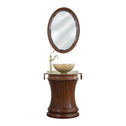 Cambridge Vanity Sink Package - Package included granite top and glass sink. Mirror and faucet available