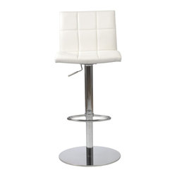 Euro Style - Euro Style Cyd Bar / Counter Stool X-THW08171 - If it had arms it would be a throne. The full seat and back offer delicious comfort. The squared off seams help keep the shape firm and tidy. This is a chair fit for a king, or just someone who'd like a beer after work and feel like a king.