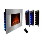 "AKDY - AKDY AG-Z510GLB Wall Mount Electric Fireplace, Log, 36"" - GV's high performance wall mount electric stoves offer the instant ambiance of a traditional fireplace experience. Each of our wall mount electric fireplaces provide quiet, instant heat and eye-catching design. You will find electric stoves with both classic and traditional designs that will complement many decors. Our electric fireplaces are ideal for condominiums, lofts, apartments or single homes. Simply plug in and enjoy the warmth and realistic flame of your new fireplace anywhere in your home. The 3-D flame technology provides you with a realistic flame that can be enjoyed year round with or without heat. Our electric fireplace stoves plug into any standard outlet and move easily from one room to another."