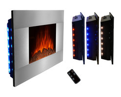 """AKDY - AKDY AG-Z510GLB Wall Mount Electric Fireplace, Log, 36"""" - GV's high performance wall mount electric stoves offer the instant ambiance of a traditional fireplace experience. Each of our wall mount electric fireplaces provide quiet, instant heat and eye-catching design. You will find electric stoves with both classic and traditional designs that will complement many decors. Our electric fireplaces are ideal for condominiums, lofts, apartments or single homes. Simply plug in and enjoy the warmth and realistic flame of your new fireplace anywhere in your home. The 3-D flame technology provides you with a realistic flame that can be enjoyed year round with or without heat. Our electric fireplace stoves plug into any standard outlet and move easily from one room to another."""