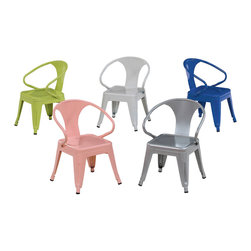 None - Kids Tabouret Stacking Chairs (Set of 2) - This kid-sized chair packs a serious design punch. It would seamlessly blend into any modern home.