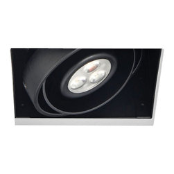 """Eurofase - Eurofase LED Black Recessed Light - Add stylish recessed lighting to any room with this LED single recessed light in black finish. This energy-saving trimless square design features multiple LED arrays on a round lamp. Easy to install securely to a compatible housing. A contemporary lighting solution from Eurofase. LED single recessed light. Black finish. Trimless square design with round lamp. Driver included. Includes three 3 watt Osram LED arrays Light output is 380 lumens. 3000K color temperature; CRI is 85. Works with compatible Eurofase Lighting products. 4"""" wide. 4"""" deep. 5 1/4"""" high.  LED single recessed light.  Black finish.  Trimless square design with round lamp.  Driver included.  Includes three 3 watt Osram LED arrays  Light output is 380 lumens.  3000K color temperature; CRI is 85.  Works with compatible Eurofase Lighting products.  4"""" wide.  4"""" deep.  5 1/4"""" high."""