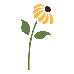 """My Wonderful Walls - Daisy Flower Stencil 2 for Painting - - Measures 4""""w x 8.5""""h"""