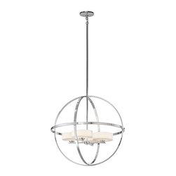Kichler - Kichler 42506 Olsay Single-Tier Globe-Style Chandelier - Kichler 42506CH Olsay Chandelier