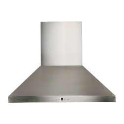 "Cavaliere - Cavaliere Euro AP238-PSF-42 42; Wall Mount Range Hood - Mounting version - Wall Mounted. 860 CFM centrifugal blower. Six-speed electronic, touch sensitive button control panel. Two dimmable 35W halogen lights (GU-10 type light bulbs). Stainless steel baffle filter (dishwasher-friendly). Delayed power auto shut off (programmable 1-9 minutes). Heavy duty 19 gauge machine crafted stainless steel (brushed finish). 6"" round duct vent exhaust. Telescopic flue accommodates 8ft to 9ft ceilings (optional flue extension�available for up to 12ft ceiling). Full stainless steel construction. One-year limited factory warranty"