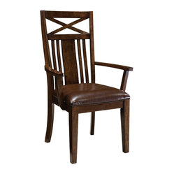 Standard Furniture Sonoma Arm Chair in Oak [Set of 2]