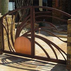 Custom Iron and Copper Walk Gates -