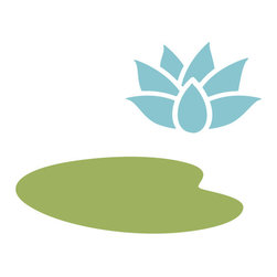 My Wonderful Walls - Lily Pad Stencil 2 for Painting - - 2-piece lily pad stencil