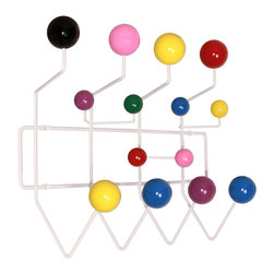 Herman Miller - Eames Hang-It-All Rack - For a lively look for your foyer, install this Eames-designed rack and watch your space come together. The shapely maple spherical hooks come on a durable welded steel frame that can hold so much more than just coats.