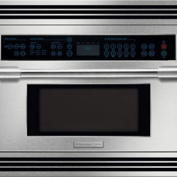 """Electrolux Icon - Professional E30SO75FPS 30"""" Single Electric Combination High-Speed Convection Wa - The Electrolux built-in high-speed microwave oven combination is as efficient as it is powerful As versatile at baking roasting or broiling as it is at warming a cup of tea The Wave-Touch Control Panel lights up the oven controls and keeps the activa..."""