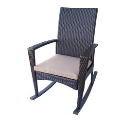 Dola - Outdoor Wicker Rockers, Medium Beige (Tan) - Bring back a touch of nostalgia with this classic rocking chair with a modern twist.