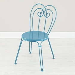 Looking Glass Play Chair, Turquoise - The Land of Nod's Looking Glass collection has four styles and four colors — perfect to mix and match!