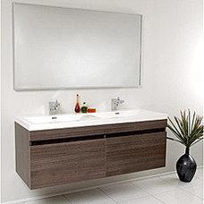 Fresca Largo Gray Oak Double Bathroom Vanity | Overstock.com