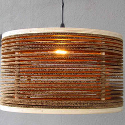 "23"" corrugated pendant - please e-mail us at info@redinfred.com for more information + purchasing availability"